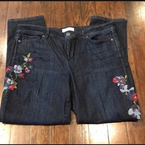 J. Jill embroidered jeans
